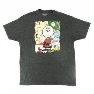 Peanuts Crewneck Shirt Charlie Brown Snoopy Sz XL